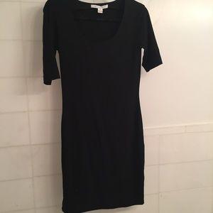 Black jersey Diane Von Furstenburg dress